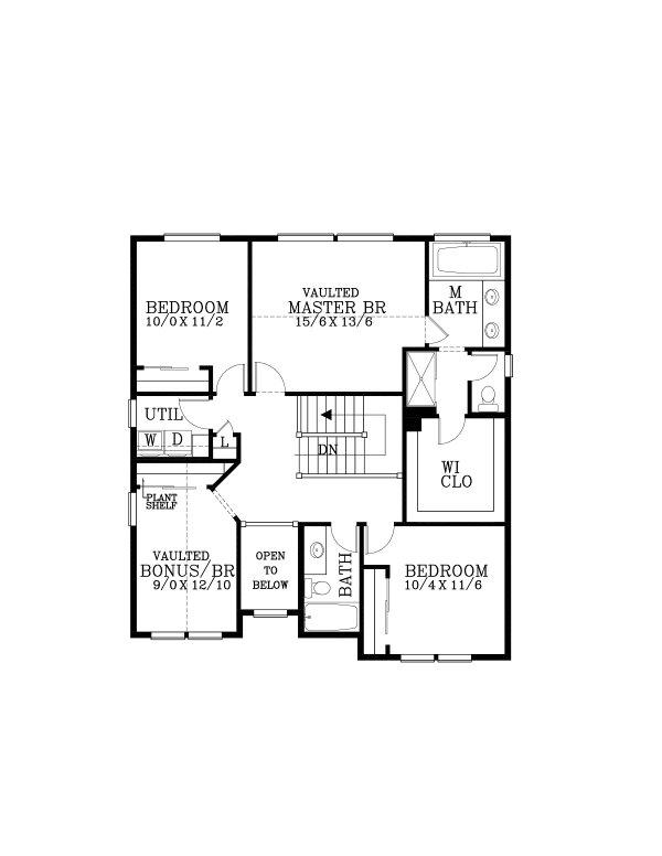 House Plan Design - Craftsman Floor Plan - Upper Floor Plan #53-663