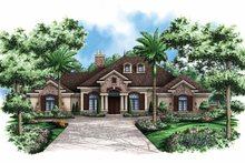 Architectural House Design - Country Exterior - Front Elevation Plan #1017-120