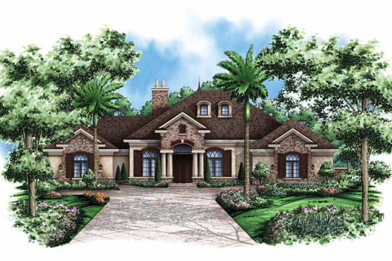Dream House Plan - Country Exterior - Front Elevation Plan #1017-120