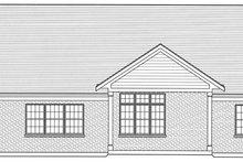 Craftsman Exterior - Rear Elevation Plan #46-809