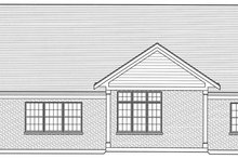 House Design - Craftsman Exterior - Rear Elevation Plan #46-809