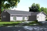 Ranch Style House Plan - 3 Beds 2 Baths 1379 Sq/Ft Plan #1-1241 Exterior - Front Elevation