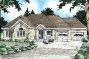Traditional Exterior - Front Elevation Plan #126-121