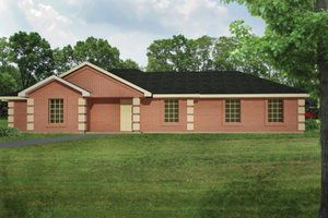 Colonial Exterior - Front Elevation Plan #1061-26