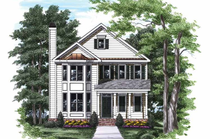 Colonial Exterior - Front Elevation Plan #927-790
