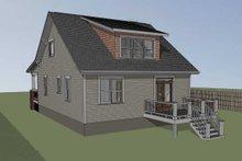 Cabin Exterior - Rear Elevation Plan #79-192