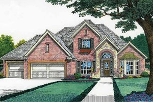 Country Exterior - Front Elevation Plan #310-1196