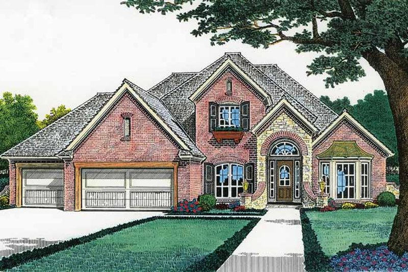 Dream House Plan - Country Exterior - Front Elevation Plan #310-1196