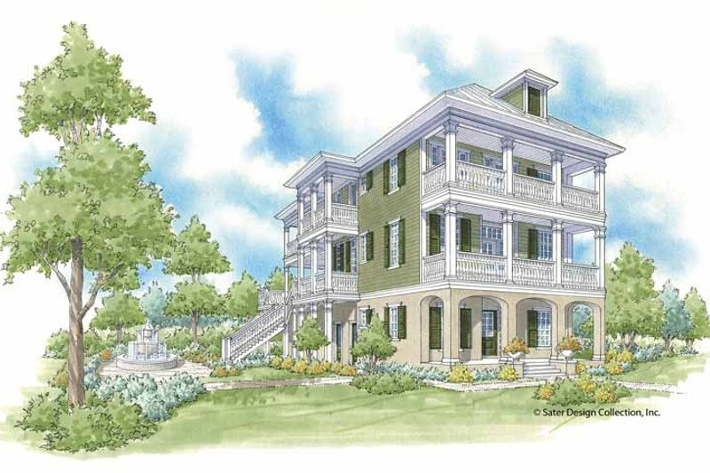Traditional Exterior - Front Elevation Plan #930-403