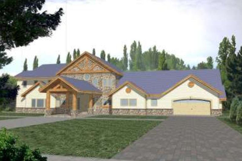 Architectural House Design - Traditional Exterior - Front Elevation Plan #117-348