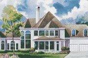 European Style House Plan - 4 Beds 3.5 Baths 4260 Sq/Ft Plan #20-1188 Exterior - Rear Elevation