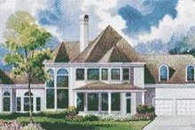Home Plan - European Exterior - Rear Elevation Plan #20-1188