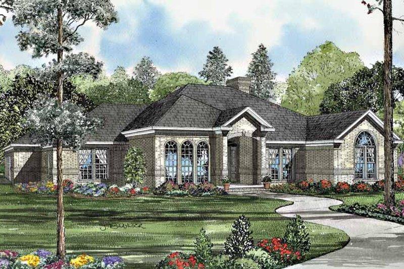 Dream House Plan - European Exterior - Front Elevation Plan #17-3079