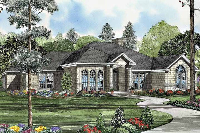 Architectural House Design - European Exterior - Front Elevation Plan #17-3079
