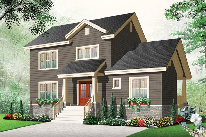 Traditional Exterior - Front Elevation Plan #23-2508 - Houseplans.com