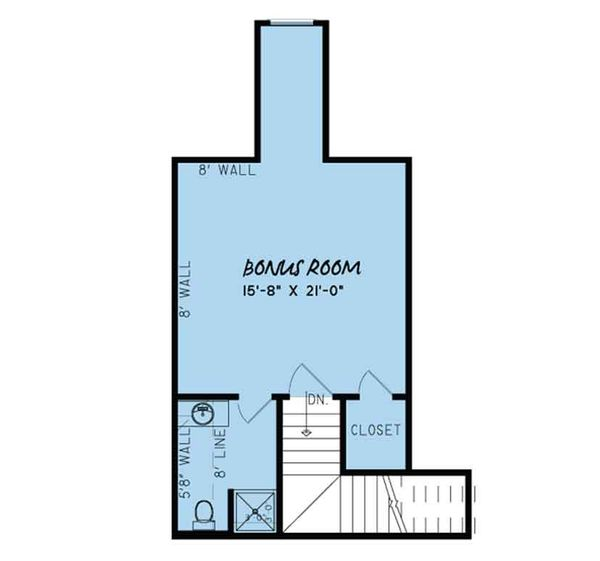 European Floor Plan - Other Floor Plan Plan #17-3412
