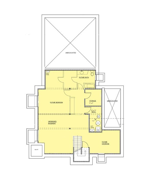 Contemporary Floor Plan - Lower Floor Plan #573-2