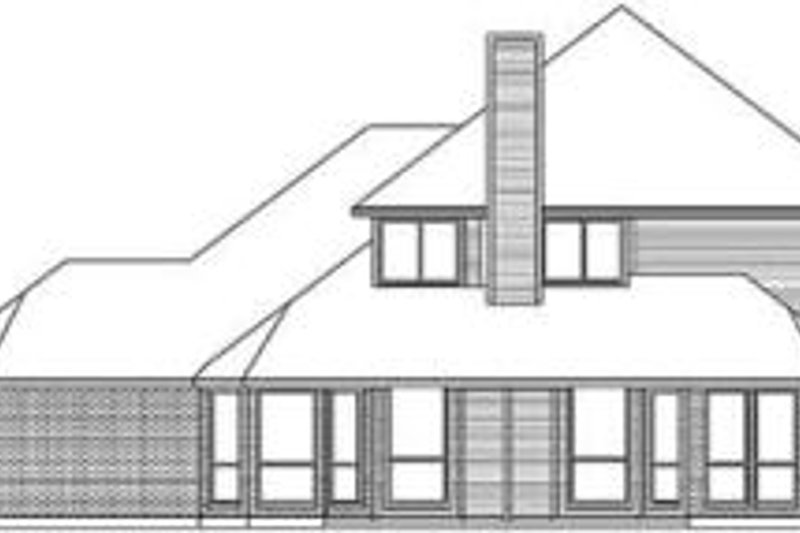 Traditional Exterior - Rear Elevation Plan #84-182 - Houseplans.com
