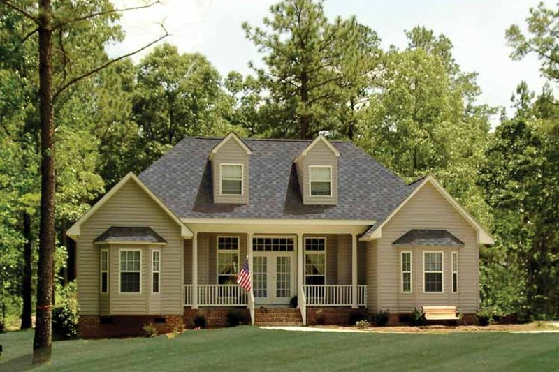Country Exterior - Front Elevation Plan #314-210 - Houseplans.com