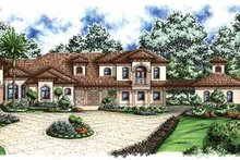 Architectural House Design - Mediterranean Exterior - Front Elevation Plan #1017-33