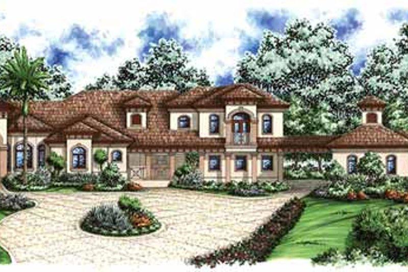Dream House Plan - Mediterranean Exterior - Front Elevation Plan #1017-33