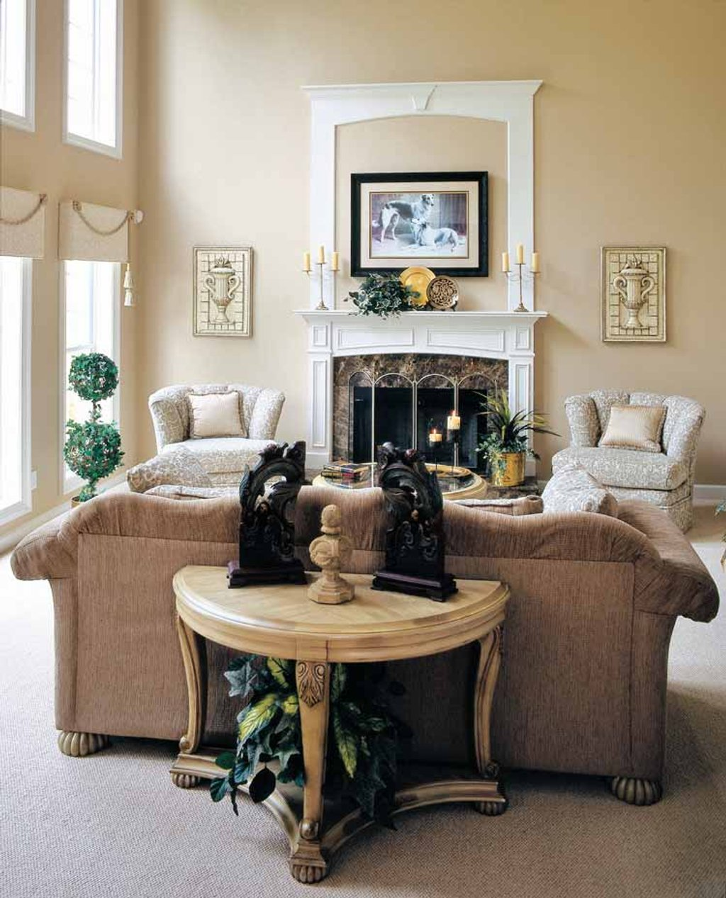 L Shaped Single Storey Homes Interior Design I J C Mobile: Mediterranean Style House Plan