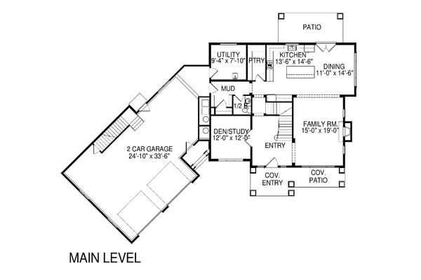Traditional Floor Plan - Main Floor Plan Plan #920-84