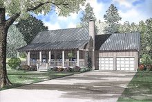 House Design - Country Exterior - Front Elevation Plan #17-566