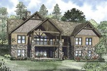 House Plan Design - Craftsman Exterior - Rear Elevation Plan #17-3322