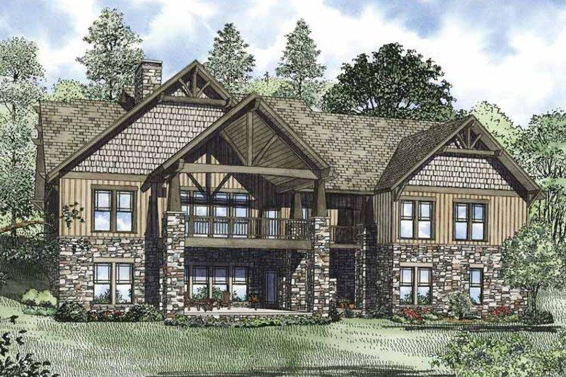 Craftsman Exterior - Rear Elevation Plan #17-3322 - Houseplans.com