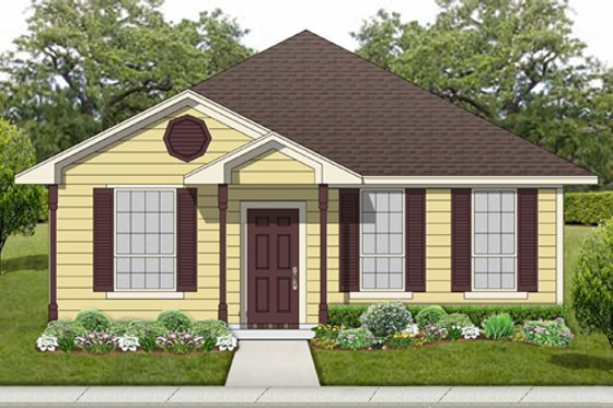 Cottage Exterior - Front Elevation Plan #84-539