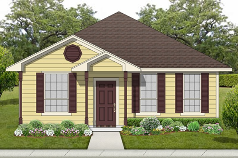Cottage Style House Plan - 3 Beds 2 Baths 1196 Sq/Ft Plan #84-539 Exterior - Front Elevation