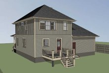 Southern Exterior - Rear Elevation Plan #79-201