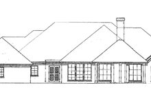 European Exterior - Rear Elevation Plan #310-538