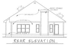 Cottage Exterior - Rear Elevation Plan #20-1207