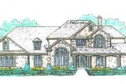 Tudor Style House Plan - 4 Beds 3 Baths 3146 Sq/Ft Plan #421-116 Exterior - Front Elevation