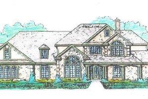 Tudor Exterior - Front Elevation Plan #421-116