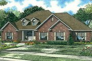 European Style House Plan - 4 Beds 3.5 Baths 3036 Sq/Ft Plan #17-651 Exterior - Front Elevation