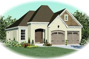 European Style House Plan - 3 Beds 2 Baths 1822 Sq/Ft Plan #81-13822 Exterior - Front Elevation