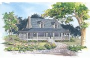 Farmhouse Style House Plan - 3 Beds 2.5 Baths 1696 Sq/Ft Plan #72-110 Exterior - Front Elevation