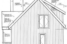 House Design - European Exterior - Rear Elevation Plan #3-339