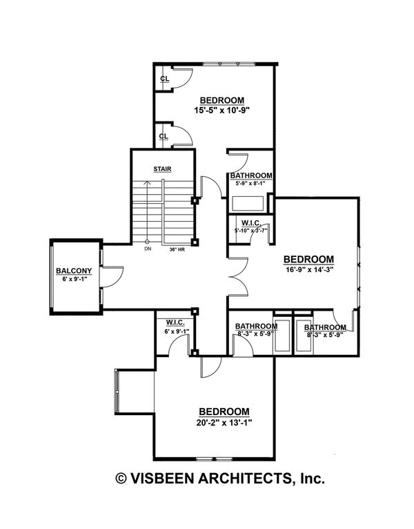 Farmhouse Floor Plan - Upper Floor Plan Plan #928-10