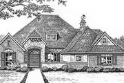 European Style House Plan - 4 Beds 3.5 Baths 2701 Sq/Ft Plan #310-547 Exterior - Front Elevation