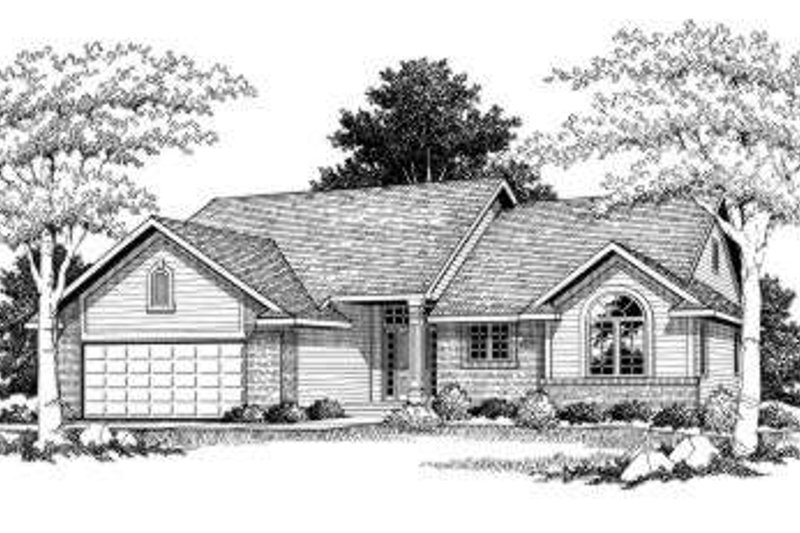 Home Plan - Traditional Exterior - Front Elevation Plan #70-755