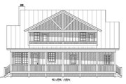 Country Style House Plan - 3 Beds 3.5 Baths 1990 Sq/Ft Plan #932-13 Exterior - Rear Elevation