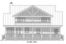 Country Exterior - Rear Elevation Plan #932-13
