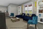 Ranch Style House Plan - 2 Beds 2 Baths 1767 Sq/Ft Plan #1060-2 Interior - Family Room