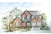 Traditional Style House Plan - 4 Beds 2.5 Baths 2641 Sq/Ft Plan #54-299 Exterior - Front Elevation