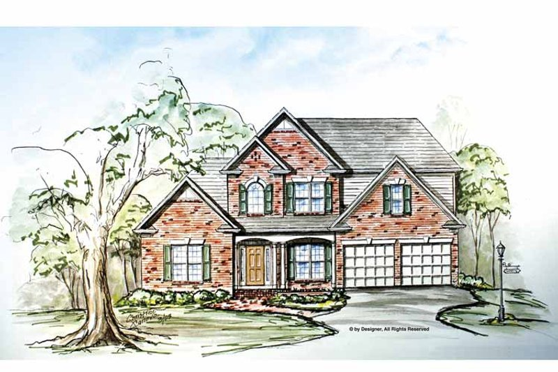 Traditional Exterior - Front Elevation Plan #54-299 - Houseplans.com