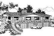 Traditional Style House Plan - 2 Beds 1 Baths 7560 Sq/Ft Plan #303-240 Exterior - Front Elevation